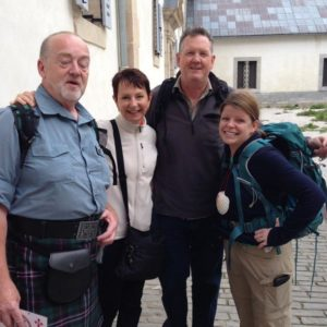 L to R: David, Jenny, Mike and Roni at Roncesvalles