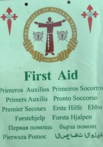 David's First Aid sign in 13 languages