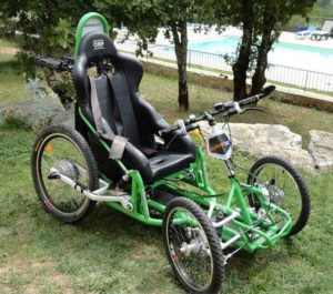 Example of Le Chemin pour Tous: all-terrain wheelchair on the Camino (Via Podiensisnear Cahors, France)