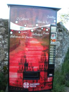 Galician drink machine along the trail
