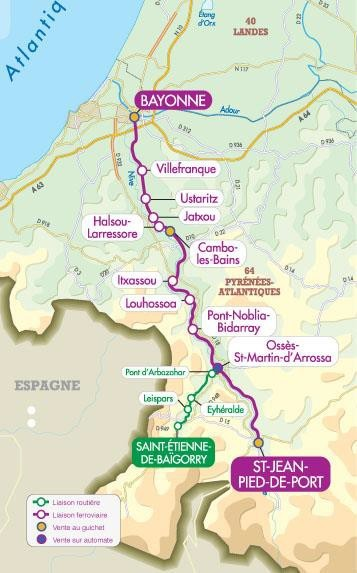 Getting to the camino frances australian friends of the - How to get to saint jean pied de port ...
