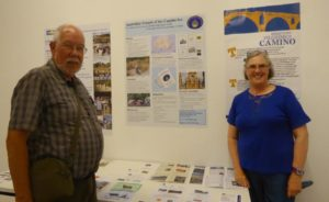 Janet and Kevin Burrows both from AFotC, with Australia's poster, designed by Kevin