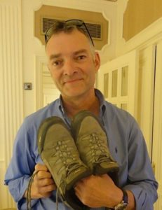 Michael bids a sad farewell to the 'Miracle of Pamplona' boots in Madrid, 2011