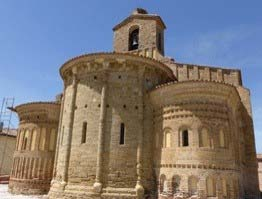 Mudejar Romanesque church: Santervas de Campos