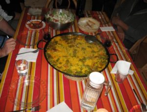 Paella dinner at Viana