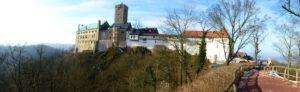Wartburg Castle, Eisenach: my finish point of the Via Regia and the start of the Elisabethpfad.