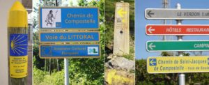 Signs along the 'French' Way