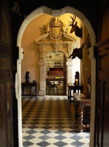 The entrance hall of the chateau at Brissac