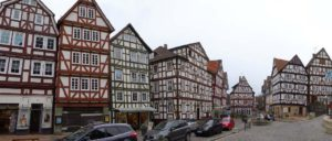 The colourful buildings in Spangenberg