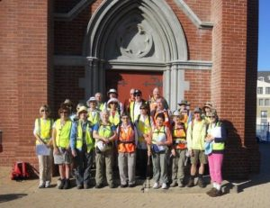 The group outside St Joseph's Church, Subiaco, ready to start