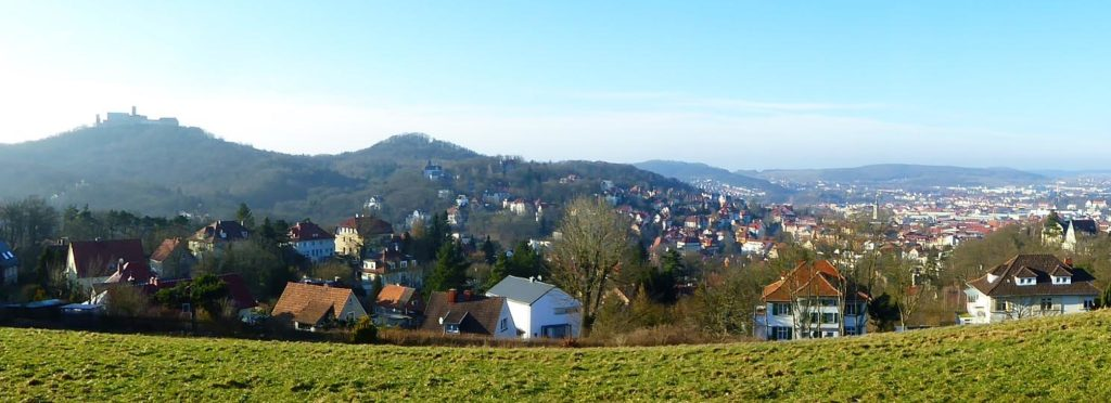 The panorama across the field Eisenach