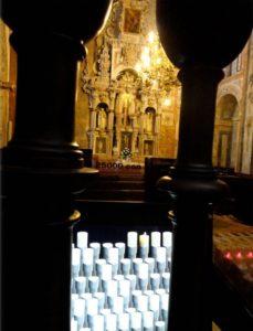 Virtual candles in Catedral de Santiago de Compostela