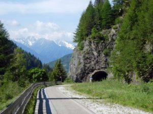 Descending the Brenner Pass on a former railway line