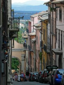 Montefiascone, where the Via Francigena and Via Romea Germanica merge