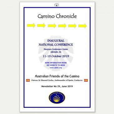 Camino Chronicle Newsletter No 29 June 2019