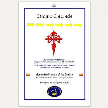 Camino Chronicle Newsletter No 30 September 2019