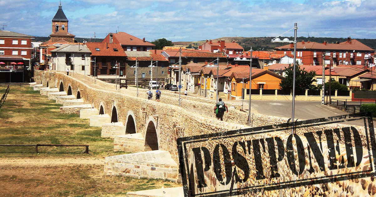 Due to the Covid-19 health crisis travel on the Camino is not possible, social share