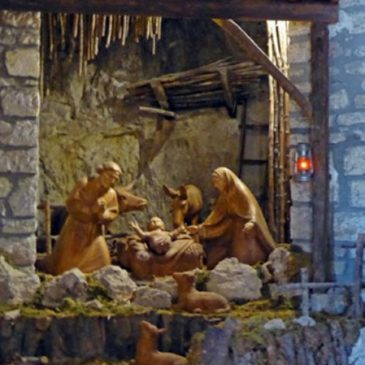 St Francis Of Assisi and The Christmas Creche (Nativity Scene)
